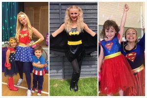 Superhero Fun! Wonder Woman, Bat Girl and Super Girl