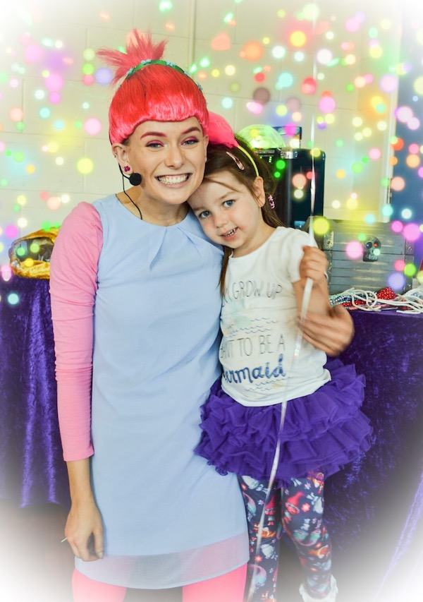Trolls Party-Pink Poppy entertainer at Spellbound Parties